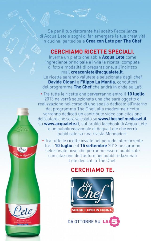 Crea Con Lete Per The Chef Volantino