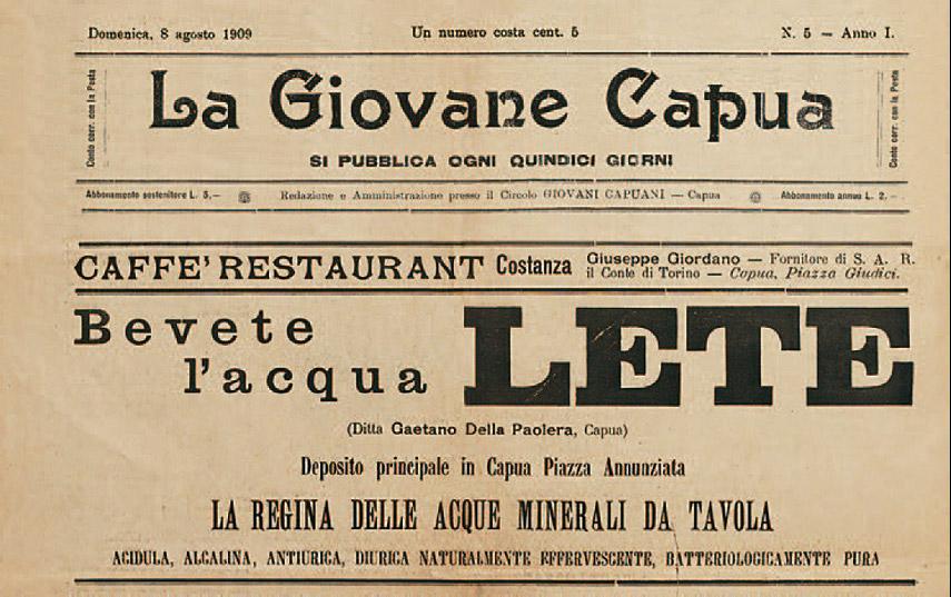 I Primi Manifesti di Acqua Lete 1906