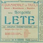Le Origini La comunicazione dei primi del 900 di Acqua Lete (3)
