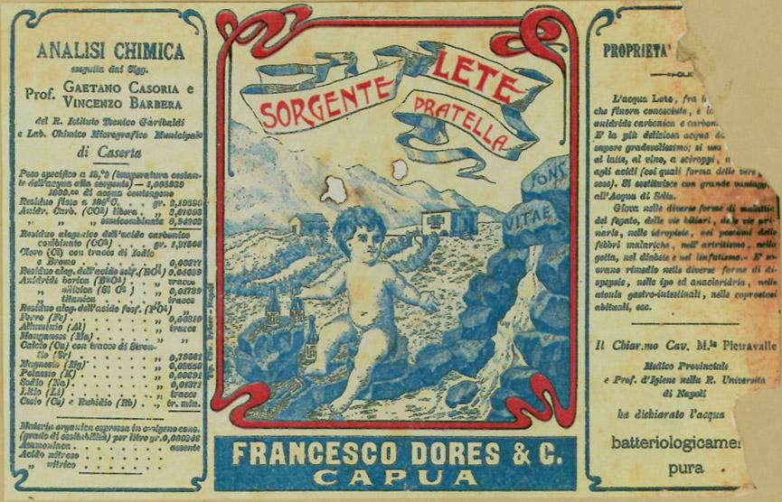 Le Origini La comunicazione dei primi del 900 di Acqua Lete (4)